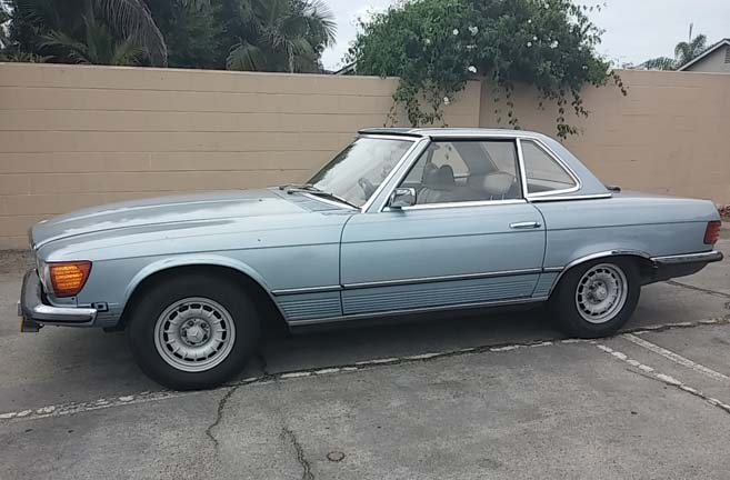 For sale 1976 mercedes benz euro 350sl convertible for Mercedes benz 350sl for sale