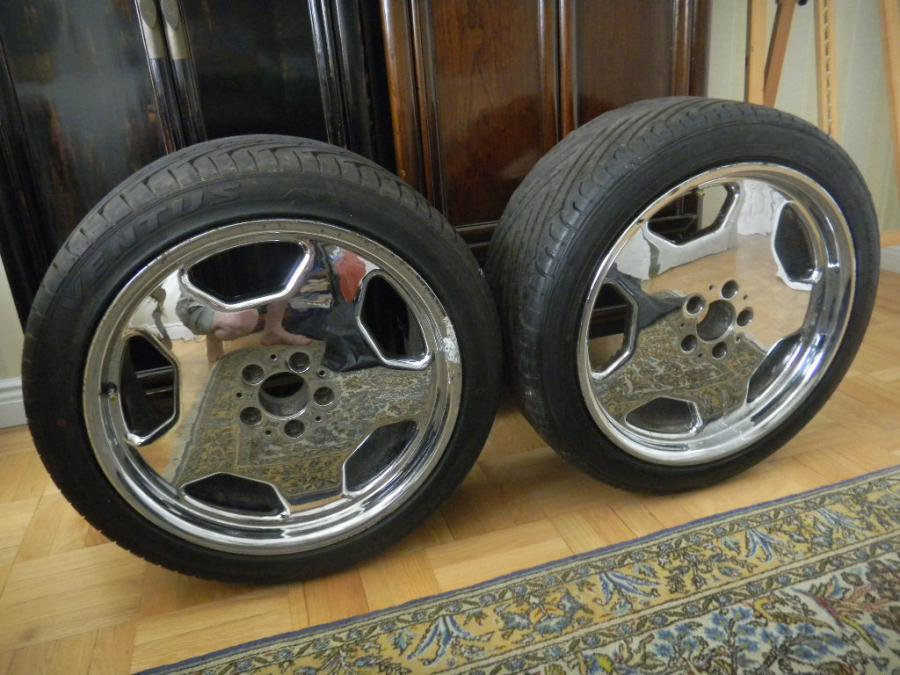 For sale 2 amg 19inch chrome monoblock rims with 255 40 for Mercedes benz rims for sale