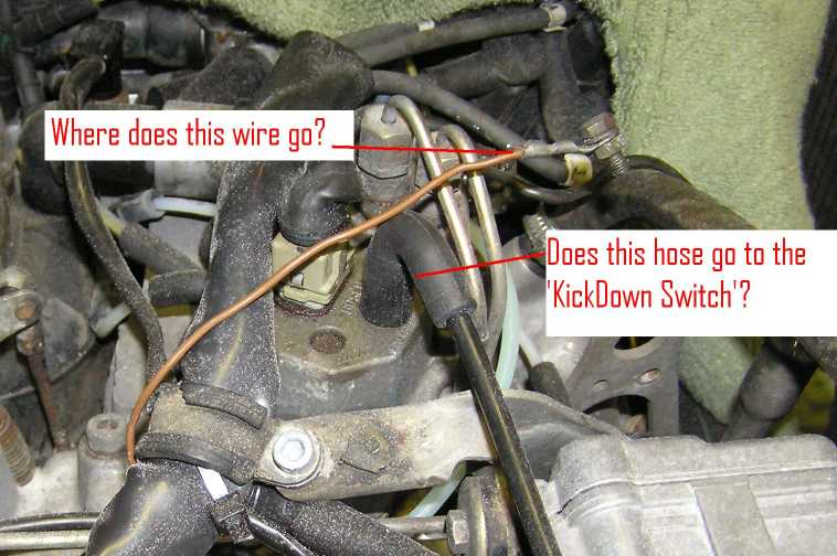 380SL Rough idle unidentified wire and vacuum hoses - Mercedes-Benz