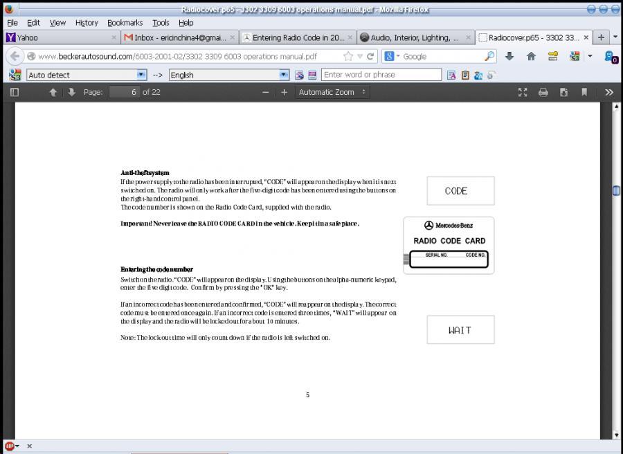 Enter mercedes benz radio code for Code for mercedes benz radio