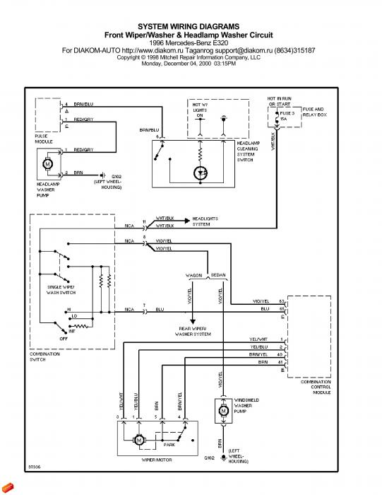Help  W210 Headlamp Washer Wiring