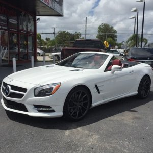 "2015 Mercedes SL400 AMG on 20"" Vossen gloss graphite CVT's"