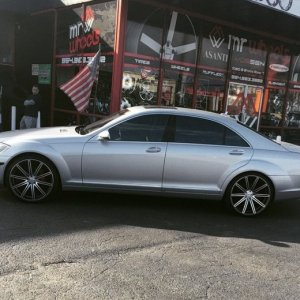 "S550 on 22"" Vossen CV4"