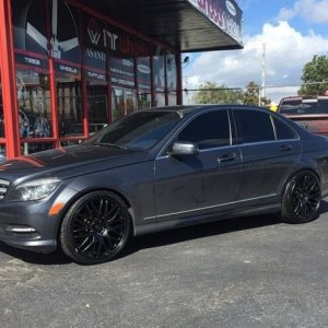 "C class on 20"" Ruff Racing wheels"